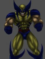 wolverine sketch colored by mechaguy