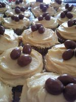 Chocolate and PB Cupcakes by MegWhiteIII