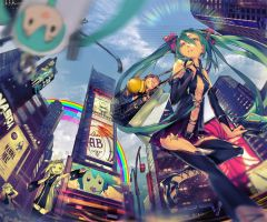 MIKU IN NEW YORK by el-zheng