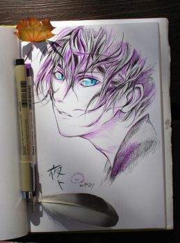 Yato from inktober 2015 by polar1303