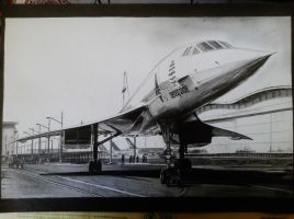 Concorde drawing by alainmi