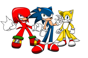 We're Sonic Heroes by AireDaleDogz