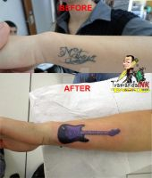 cover-up name by BixoTattoo