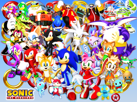 Sonic and his Friends, Rivals, and Bosses Final by 9029561