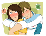 Free!: Unexpected Hugs by Sky-the-Weirdo