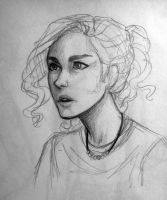 wise girl sketch by ah-nada