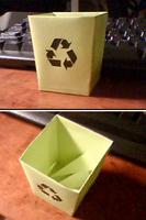 Papercraft-Recycling Bin by Tsunaide
