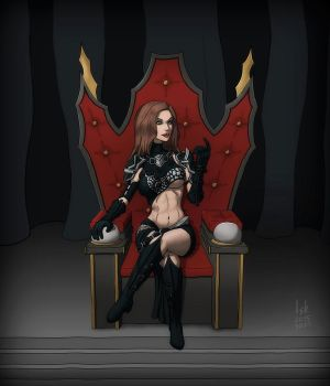 Guildwars 2 - The Throne Pose by Iskarien