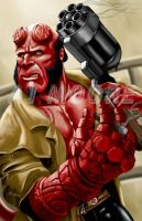Hellboy - by AJ Moore by GudFit