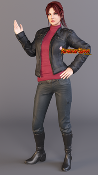 Claire Redfield Leather Jacket Render 1 by Kunoichi-Supai