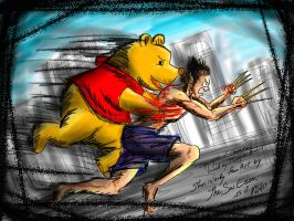Pooh Bear killed Wolverine by sw-eden
