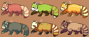 Red pandas 4 - CLOSED by pandapoots