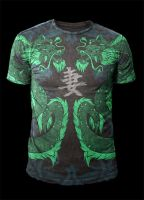 MMA Style - Twin Dragons of Death by Oblivion-design