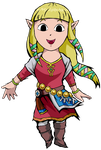 Skyward Sword Zelda by cathanupto