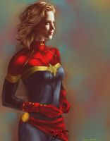 Emily Blunt as Captain Marvel by bruuninferreira