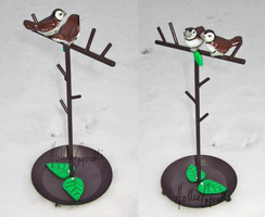 Owl Finches Jewelry Holder by HollieBollie
