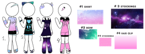 pastel galaxy clothes/ closed(read desc) by Lilah-ppg2442