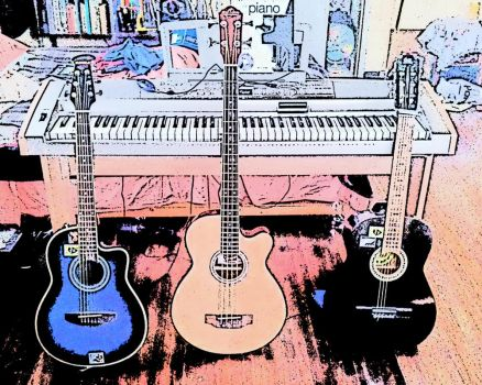 Acoustic Guitars, Acoustic Bass and Keyboard by El-Rockero