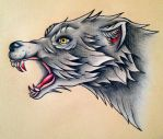 Wolf head by BeyondEdge