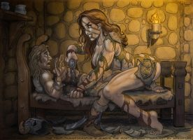 Skyrim Mini Giantess Ready to Dominate by giantess-fan-comics