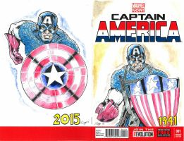 Captain America (2012) #1 Marvel Now Sketch Cover by aldoggartist2004