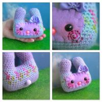 Purple Vari Pocket Bunny Friend by EssHaych