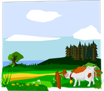Background Grazing Cow by pineapplepidecd92