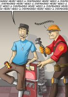Team Fortress 2: Need a dispenser here! by Comedic44