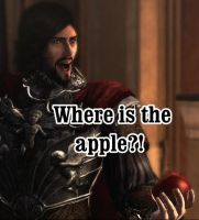 Cesare and his apple by CyrodiilicBrandy