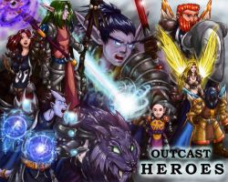 Outcast Heroes Poster by sadrlegends