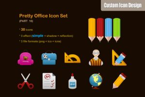 Pretty Office Icon Set part 10 by customicondesign
