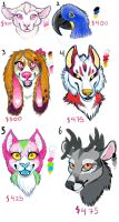 Fursuit Adoptables OPEN by AlieTheKitsune