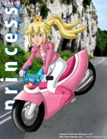 Princess Peach Motorcycle by Kishi005