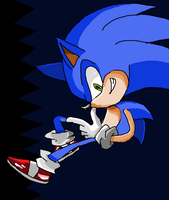 Sonic Doodle by supermarioguy