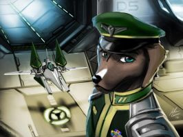 Star Fox OC: Davion Pointer by JECBrush