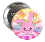 Bunnie Button Pin by xlilbabydragonx