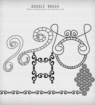 Doodles Photoshop brushes 1 by cameliaRessources