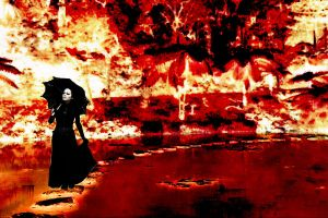 walking on hell by Emersonpriest