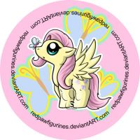 Fluttershy Chibi Badge by RedPawDesigns