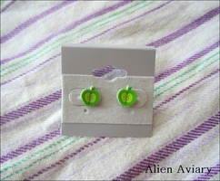 Big Macintosh Earrings by alienaviary