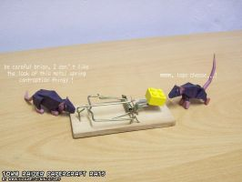 Papercraft rats vs LEGO cheese mousetrap by ninjatoespapercraft