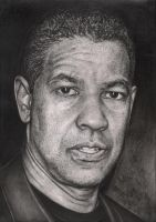 'Denzel Washington' graphite drawing by Pen-Tacular-Artist