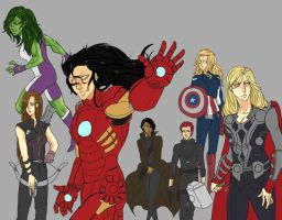 Genderbend Avengers by shortsista