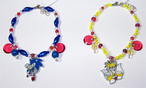 Sonic and Tails Beaded Charm Bracelets by jordannamorgan