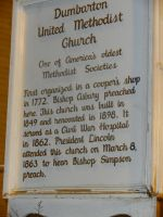 Dumbarton United Methodist Sign by Flaherty56