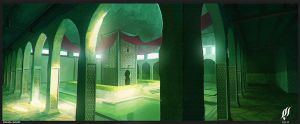 arabic castle interior concept by cstlmode