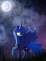 Princes Luna - On a cold and windy night by ZidaneMina