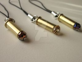 Bullet Casing Cell Phone Charms by KaleidoscopeEyez