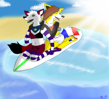 Surfing summer by Jullick