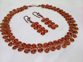 Egypt necklace and earring by Mirtus63